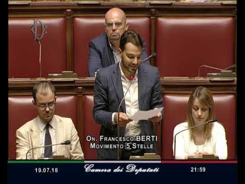Francesco Berti - Intervento di fine seduta 19/07/2018