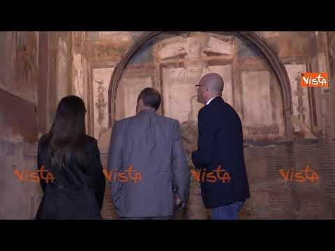 Il ministro Bonisoli visita il Parco Archeologico di Ercolano, immagini