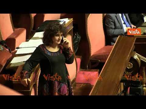 Dissidenti M5s, Nugnes in aula al Senato parla al telefono