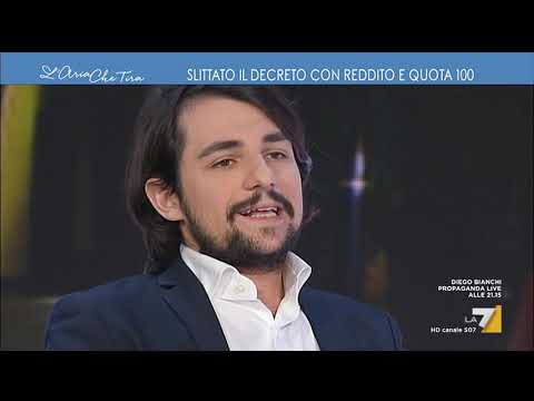 Michele Sodano ospite a L'Aria che Tira La7 11- 01- 2019