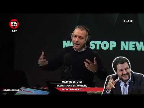 MATTEO SALVINI SU NON STOP NEWS (RTL 102.5, 10.01.2019)