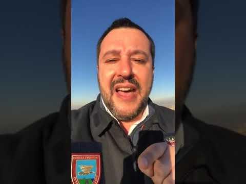 MATTEO SALVINI in diretta Facebook (MILANO, 11.01.2019)
