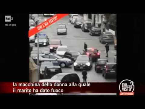 INCENDIA L'AUTO CON LA MOGLIE DENTRO, CATTURATO
