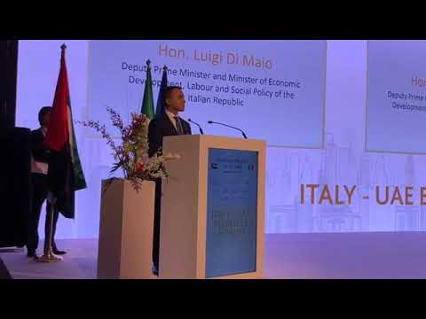 Luigi Di Maio - intervenuto al UAE-Italy Business Forum 2019 di Dubai