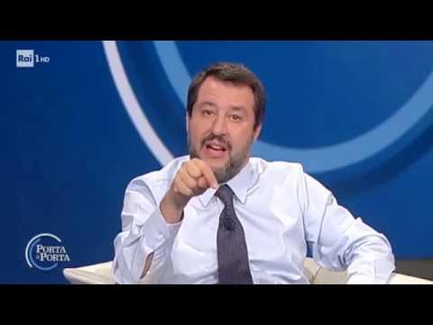 MATTEO SALVINI A PORTA A PORTA (RAI 1, 18.04.2019)