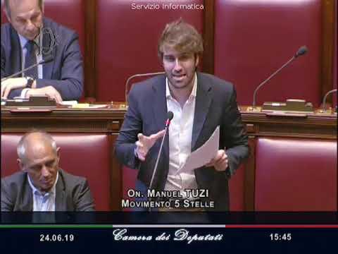 Manuel Tuzi - Intervento su ordinamento sportivo il 24-06-2019
