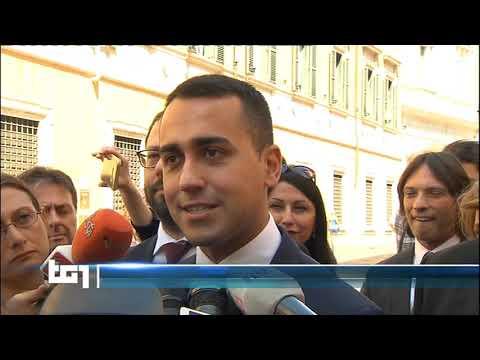 Luigi Di Maio - servizio al Tg1 11/7/2019 ore 13
