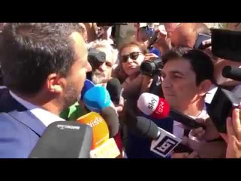 MATTEO SALVINI A GENOVA PER CONSEGNARE 44 IMMOBILI CONFISCATI (17.07.2019)