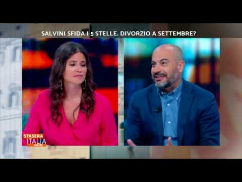 Gianluigi Paragone (M5S) a stasera Italia su rete4 6/8/2019
