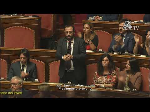 Stefano Patuanelli (M5S) - votazione per il calendario dei lavori - Senato