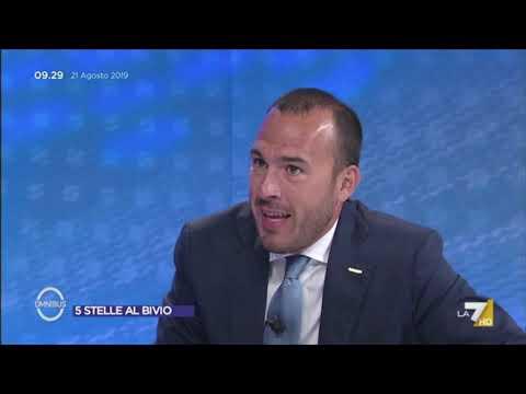 Manlio Di Stefano ospite a Omnibus 21-08-2019
