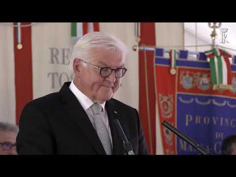 Fivizzano -interventi del Presidente Federale di Germania e del Presidente della Repubblica Italiana