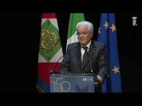 Mattarella -  Intervento 150° anniversario dell'Associazione Italiana Editori
