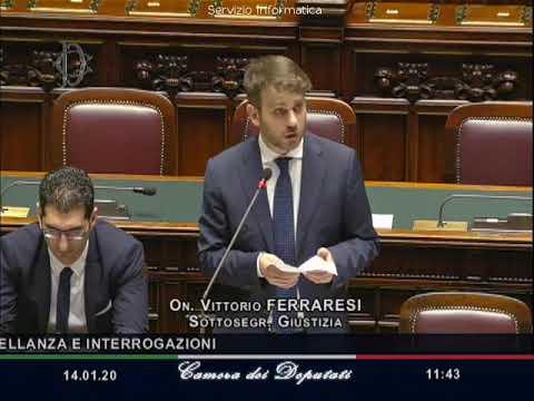 Vita Martinciglio - Interpellanza a Sottosegretario alla Giustizia Vittorio Ferraresi il 14-01-2020