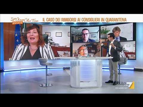 Valeria Ciarambino ospite a L'Aria che tira - La7 il 31/07/2020