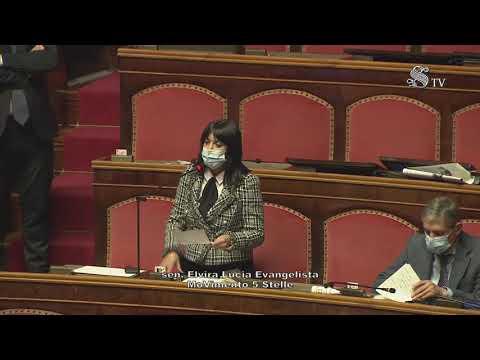 Elvira Evangelista (M5S) Intervento di fine seduta  - 13/1/2021