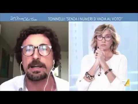 """Danilo Toninelli ospite a """"L'aria che tira"""" - 25/01/2021"""