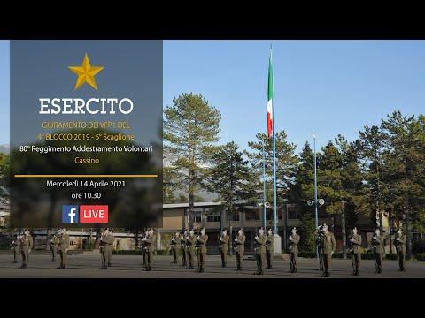 Giuramento VFP1 del 4° Blocco 2019 - 5° Scaglione - Cassino