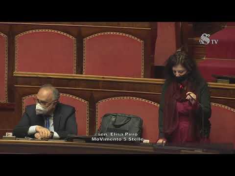 Elisa Pirro (M5S) - Intervento aula Senato - 7/4/2021