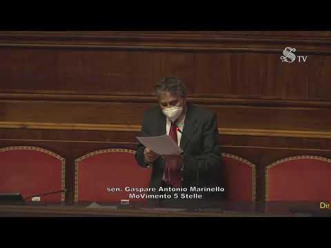 Gaspare Antonio Marinello (M5S) Intervento aula senato - 7/4/2021