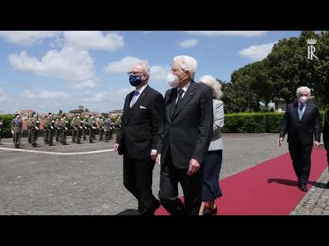 Mattarella riceve il Presidente della Repubblica di Lettonia