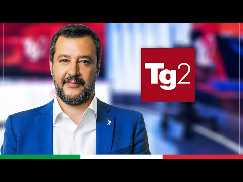 MATTEO SALVINI A TG2 POST (RAI 2, 13.05.2021)