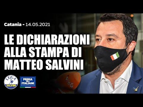 MATTEO SALVINI IN DIRETTA DA CATANIA (14.05.2021)