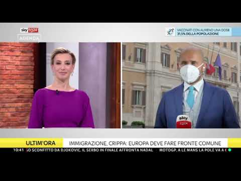 Davide Crippa ospite a Sky TG24 il 16/05/2021