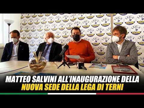 MATTEO SALVINI ALL'INAUGURAZIONE DELLA NUOVA SEDE DELLA LEGA DI TERNI (06.05.2021)
