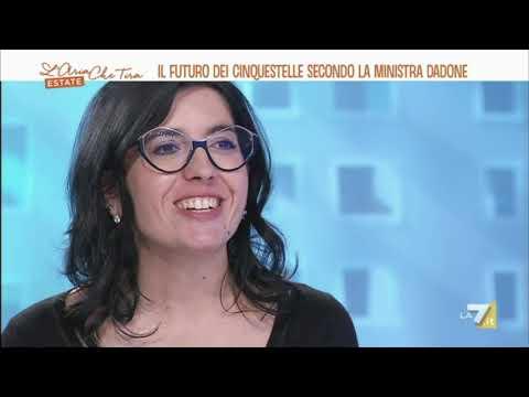 Fabiana Dadone ospite a L'Aria Che Tira La7 18/06/2021