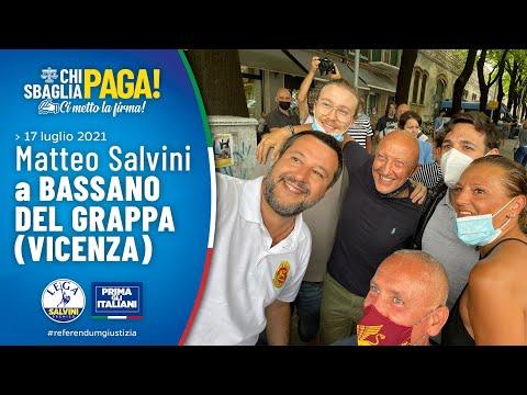 MATTEO SALVINI A BASSANO DEL GRAPPA (VICENZA, 17.07.2021)