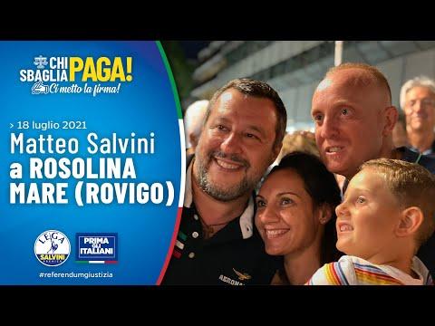 MATTEO SALVINI A ROSOLINA MARE (ROVIGO, 18.07.2021)