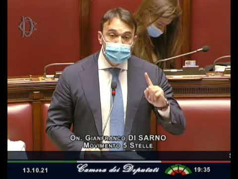 Gianfranco Di Sarno Intervento in Aula 13/10/21